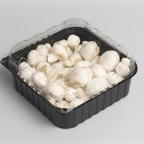 champignons - plastic tray clamshell